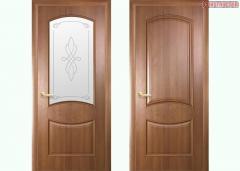 Дверь из бруса Новый стиль Донна золотая ольха