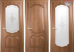Дверь из бруса Новый стиль Рока золотая ольха