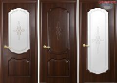 Дверь из бруса Новый стиль Рока каштан