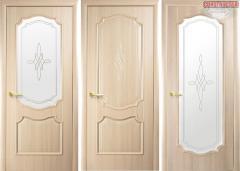 Дверь из бруса Новый стиль Рока ясень