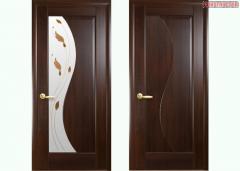 Дверь из бруса Новый стиль Эскада каштан