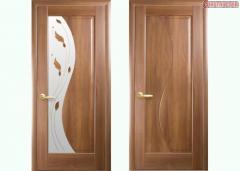 Дверь из бруса Новый стиль Эскада золотая ольха