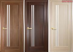 Дверь из бруса Новый стиль Делла золотая ольха