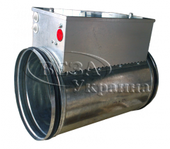 The electric channel air heater for round channels