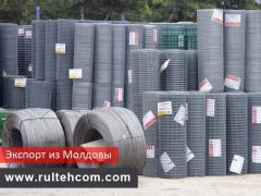 Экспорт. Сетка металлическая, строительная. Заборы. Молдавский производитель Rultehcom