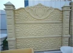 Забор из бетона № 1