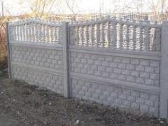 Забор из бетона № 2