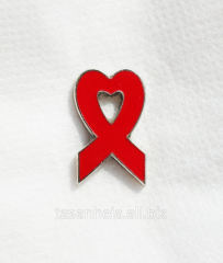 Badge - a solidarity symbol in fight against HIV