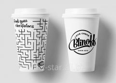 Бумажные стаканчики с логотипом компании