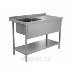 Cтол c ванной моечной из нержавеющей стали (1076-326-00)