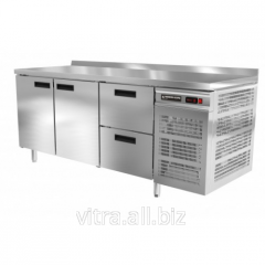 Table refrigerating with two doors and boxes