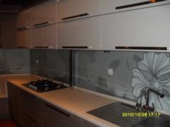 Kitchen glass aprons