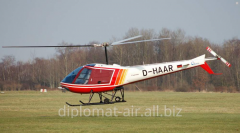 The helicopter with the Enstrom F28F piston engine