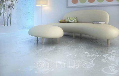 Epoxy floors with drawing