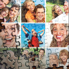 Puzzles with photos A4 (120 units)