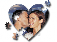 Puzzle a heart from photos (55 units)