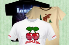 Individual t-shirts with the full-color image
