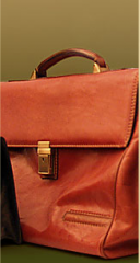 Leather briefcase with logo of your firm