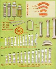 Балюстрады, колонны, тумбы, перила