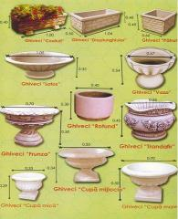 Flowerpots, bowls, vases, cups