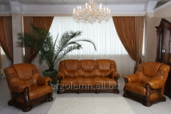 Set sofa and two chairs of Ergolemn-Triumf
