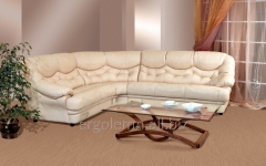 Angular leather sofa of Malaga, Ergolemn