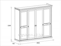 Sliding wardrobe 4 doors of Milano, Ergolemn