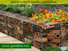 Gabions in Moldova. A grid for gabions. Sections.