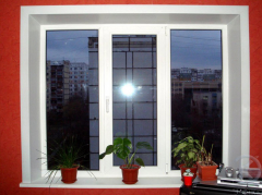 Window plastic for the house