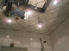 Mirror stretch ceiling for office