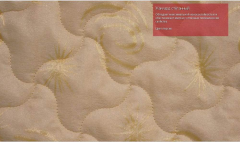 Jacquard is quilted