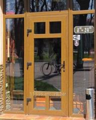 Пластиковая дверь светлый дуб Inventproiect