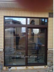 Пластиковая дверь вишня Inventproiect