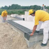 Wall blocks from an autoclave gas concrete