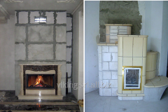 Fireplaces from a gas concrete
