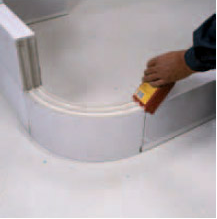 Thin blocks from an autoclave gas concrete