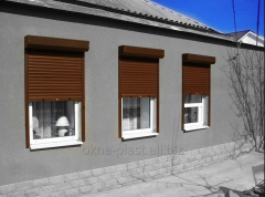 Protective rolling shutters, rolleta for windows