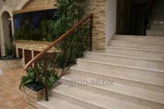 Steps from Crema Nova marble