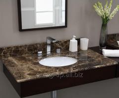 Table-top under a wash basin from Emperador Dark