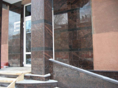 Column from Tan Brown granite