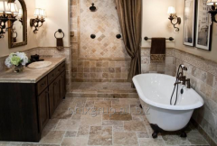 Covering floor Travertine nigh