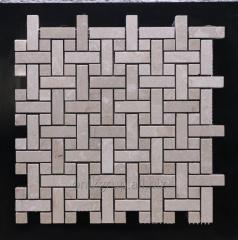 Mosaic of marble 1.5х4.8/1.5х1.5 cm