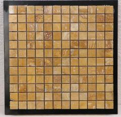 Mosaic travertine yellow 29.5х29.5х1
