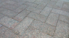 The stone blocks is granite red