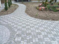 Stone blocks of chipped gray 10х10х5 cm