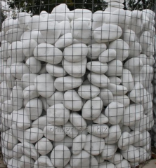 The boulder is decorative white