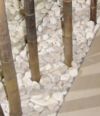 Галька мраморная белая