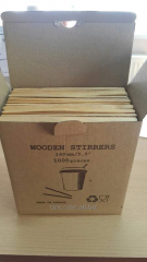 Wooden sticks for coffee