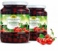 Compot din visine la export din Moldova
