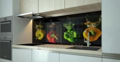 Aprons for kitchen from glass